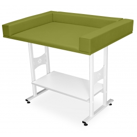 Baby nursing table with shelf
