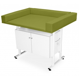 Baby nursing table with cabinet