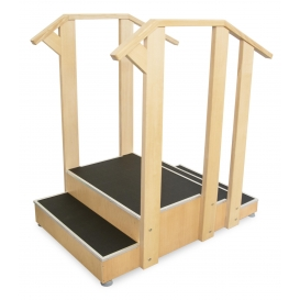 Double-sided Wooden Training Stairs for Rehabilitation & Physical Therapy SDCH2D